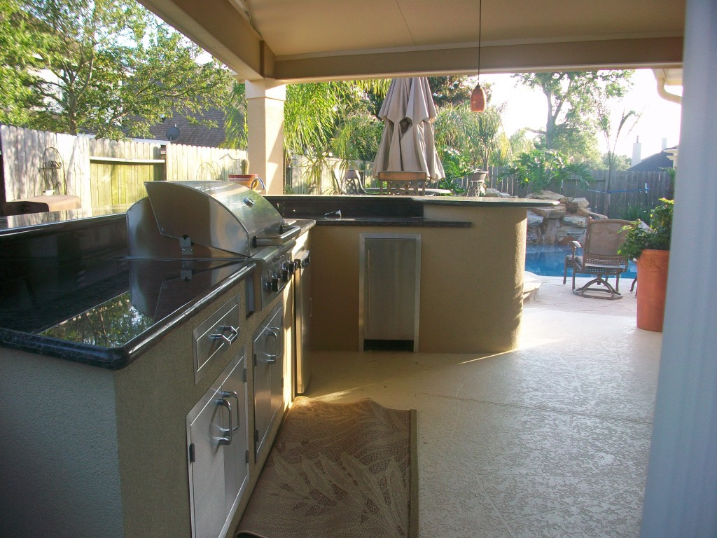 Custom Outdoor Kitchen In The Woodlands Tx Lone Star