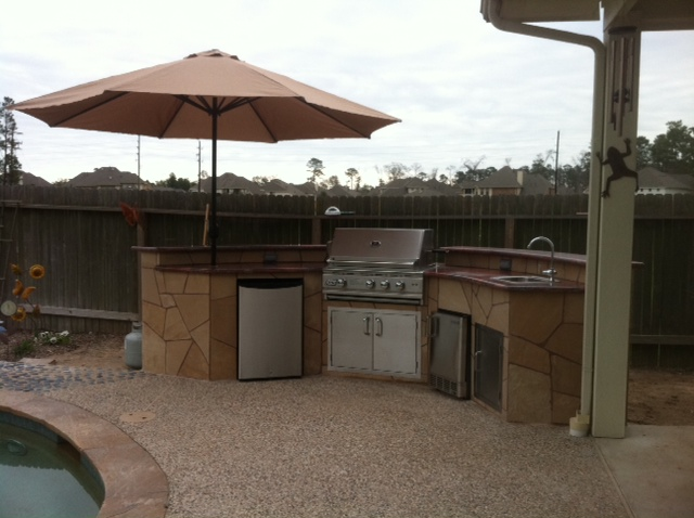 The woodlands outdoor kitchen construction lone star for Outdoor kitchen contractors