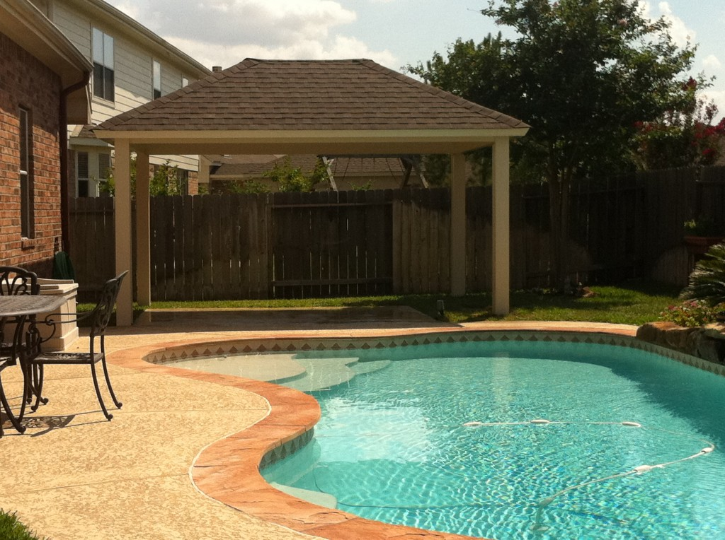 Metal Patio Cover With Shingles In Cypress, TX