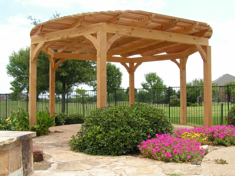 Cedar Pergola Near Austin Tx Lone Star Patio Builders