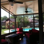 Texas Covered Patio With a Screen Enclosure