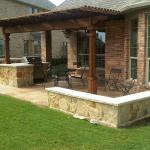 Houston Outdoor Kitchen With Cedar Pergola