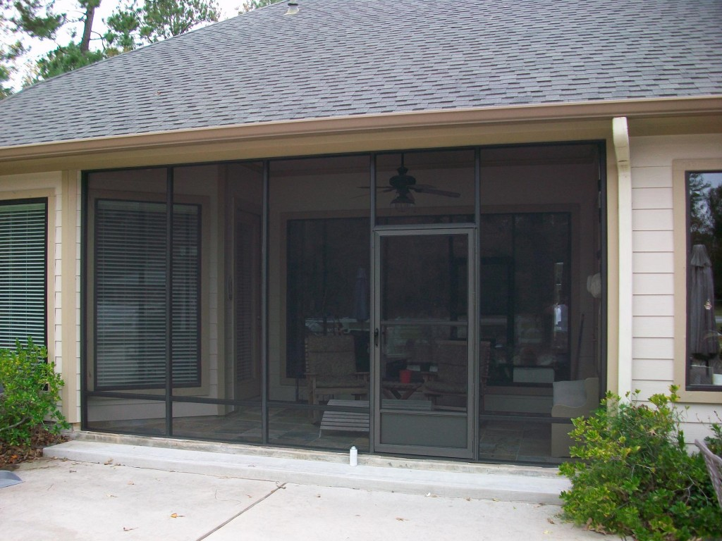 Portable Screened Patio Enclosures : Porch screens covered patio in tomball tx lone star