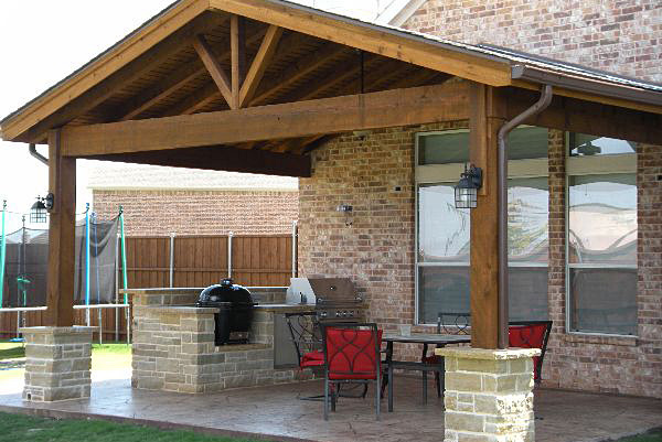 Beautiful Cedar Patio Covers In Houston, Texas