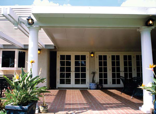 Insulated Patio Cover Roof Panels With Colonial Columns