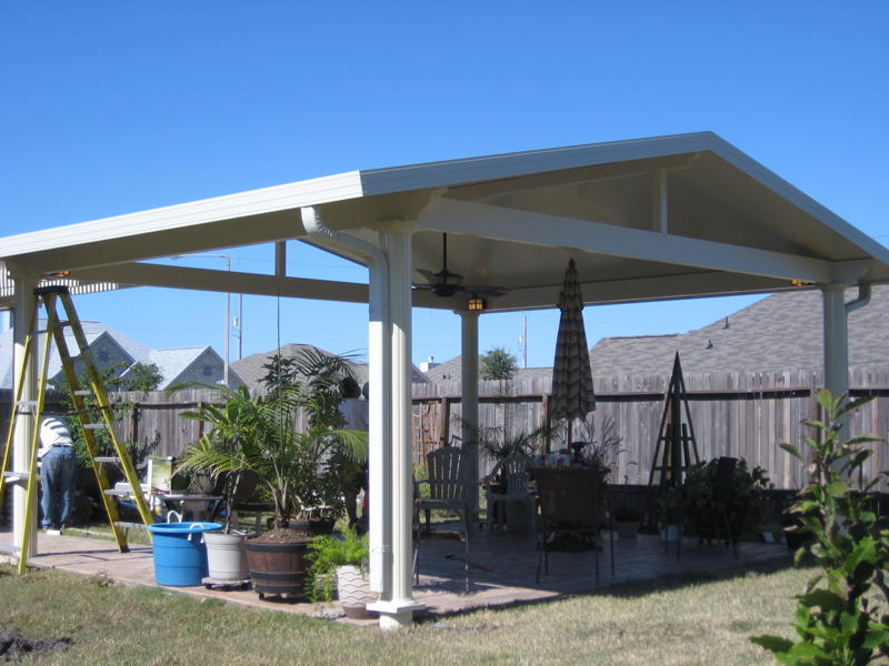 Houston Metal Patio Cover In Conroe Tx Lone Star Patio
