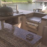 Outdoor Kitchen on Lake Conroe