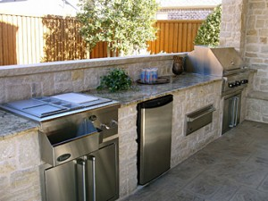 Outdoor Kitchen in The Woodlands.