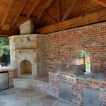 The Woodlands Outdoor Kitchen With Cedar Patio Cover