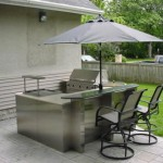 Stainless Steel Outdoor Kitchen in Sugar Land