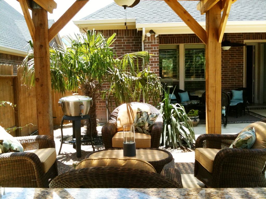Pergolas for outdoor living lone star patio builders for Outdoor furniture 1960 houston