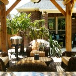 Outdoor Living Area with Covered Pergola