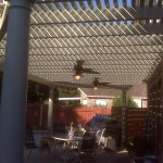 Tomball Pergola With Ceiling Fans