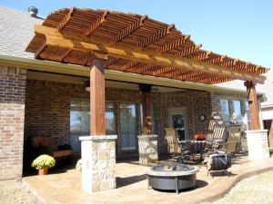 Cedar Pergola by Lone Star Patio Builders