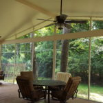 Covered Deck With Screen Walls