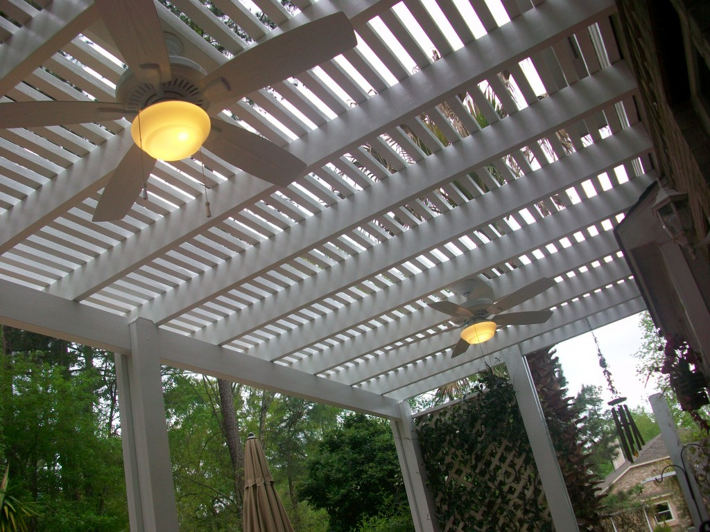 Pergola Ceiling Fans With Lighting Options