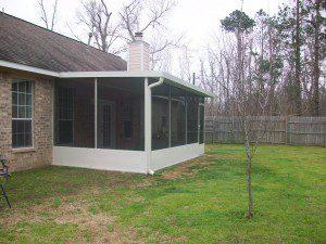 Patio With Screen Porch In Magnolia Tx Lone Star