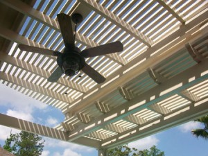 Metal pergola in Spring, TX.