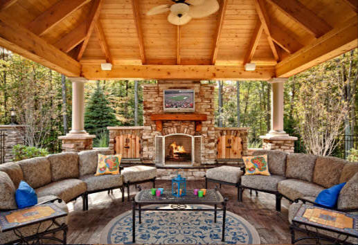 Rustic Outdoor Living Area