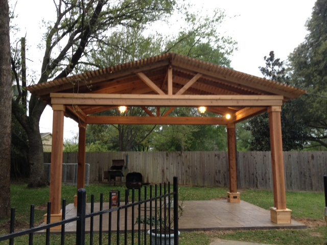 Covered Cedar Pergola