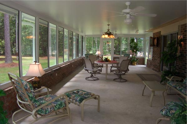 Sunroom With Brick Kneewall Lone Star Patio