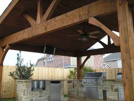 Cedar Covered Patios In Houston Lone Star Patio Builders