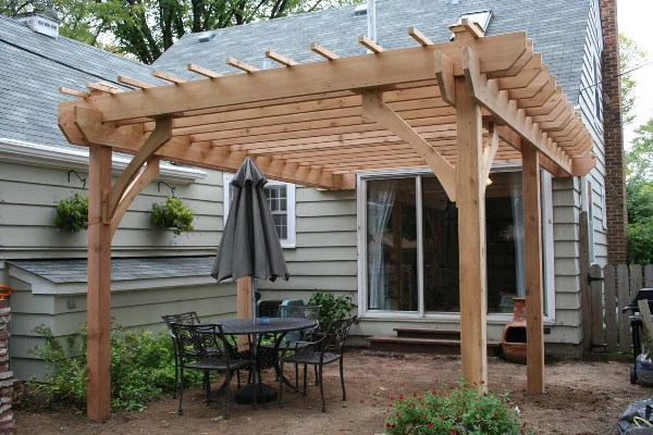 Cedar Pergola In The Woodlands Lone Star Patio Builders