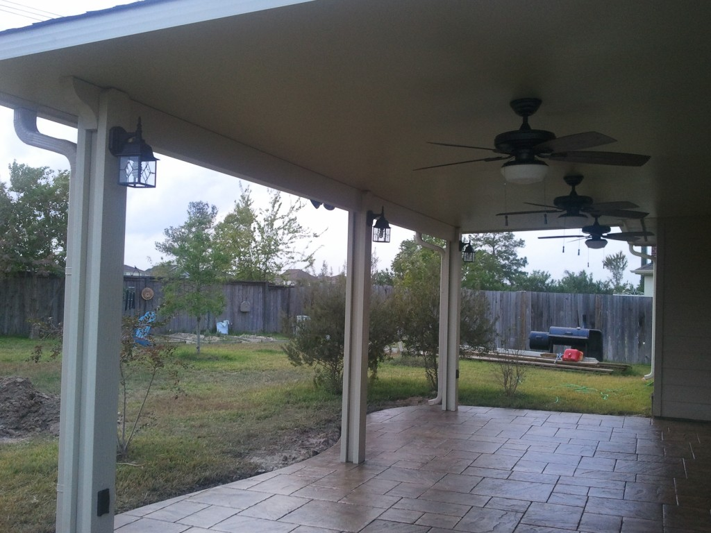 Patio Covers With Stamped Concrete In Houston Tx