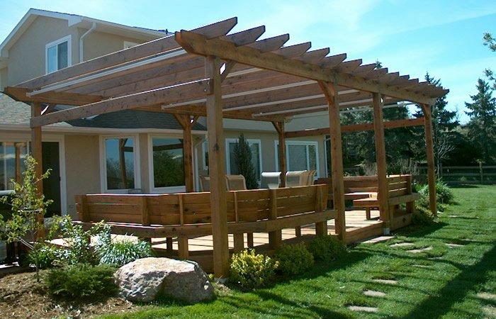 Wood Pergola In Katy Tx Lone Star Patio Builders