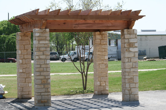 Pergolas With Stone Columns Lone Star Patio Builders