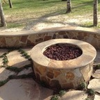 Custom Outdoor Fire Pit in Houston - Lone Star Patio Builders